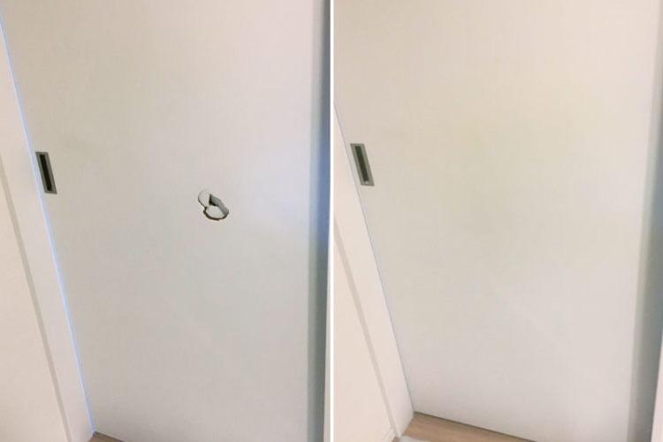 ドア,リペア,補修,修理,見えない,傷,穴