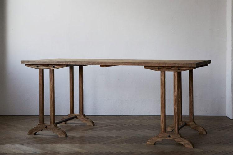 フランス作業台 アンティーク調テーブル